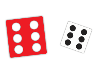 Pair of Dice - Red and White